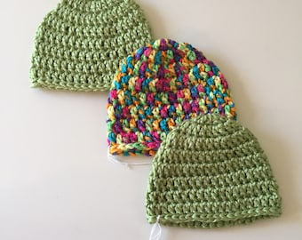 Newborn hats (set of three)