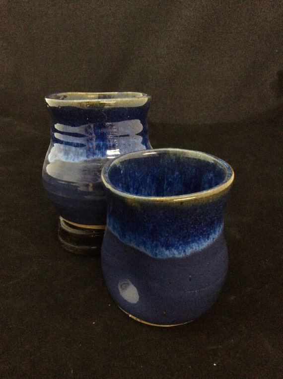 Thumblers (Small)/ handmade/ Deep sea blue Glaze