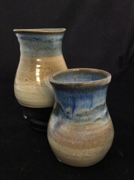 Large Thumblers/ handmade/ Ocean Landscape Glaze