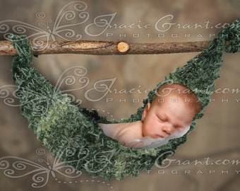323 Baby Newborn Hammock - Hunter Boy Child   Digital Photography Prop Background