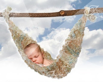Newborn Hammock with Skys Photography Background PSD File