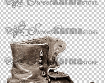 Vintage Pioneer Shoe Pet Digital Photography Prop Background FILE 912