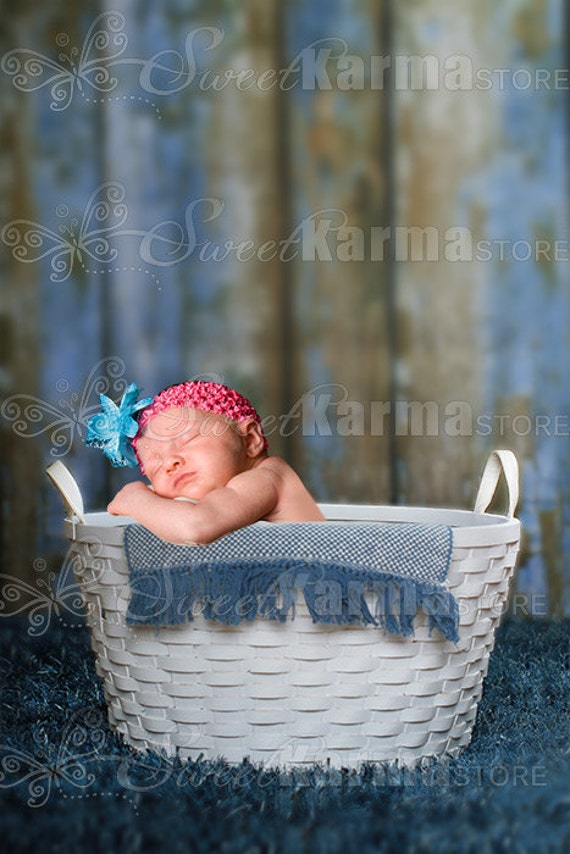 Wicker Basket Blue And Pink Options Digital Photography Prop Etsy