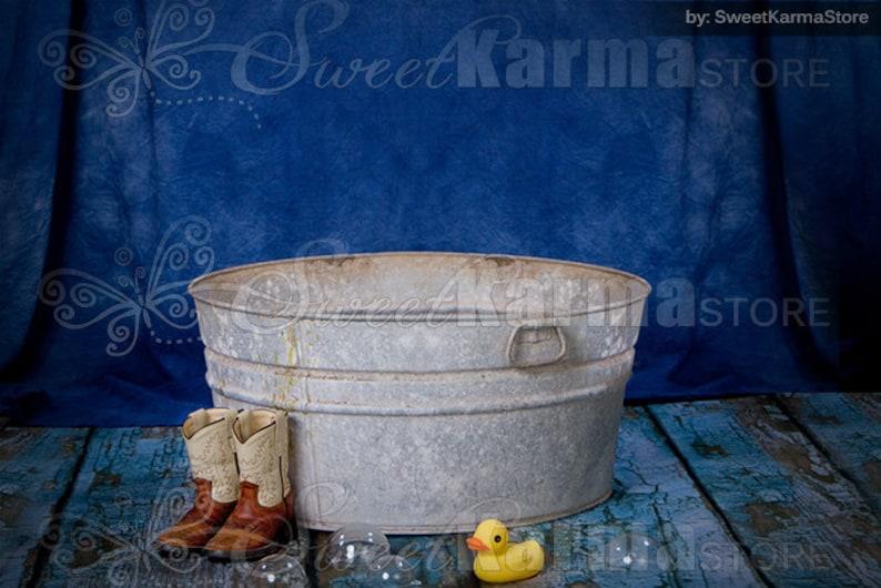 8cad056373c0a Cowboy Wash Basin on Blue Editable Digital PSD Layered