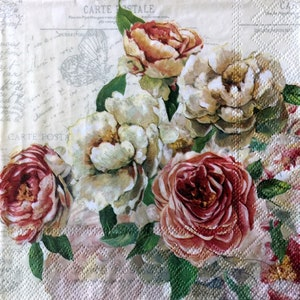 for Decoupage 13 inches 2 Single  Paper Napkins 33 cm Decoupage Napkins Decor #771 Paper-Craft and Collage