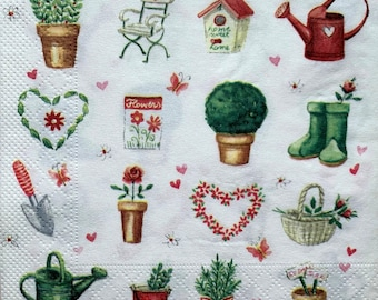 Decor #392 Decoupage Napkins 2 Single  Paper Napkins for Decoupage 33 cm Paper-Craft and Collage 13 inches Dresden