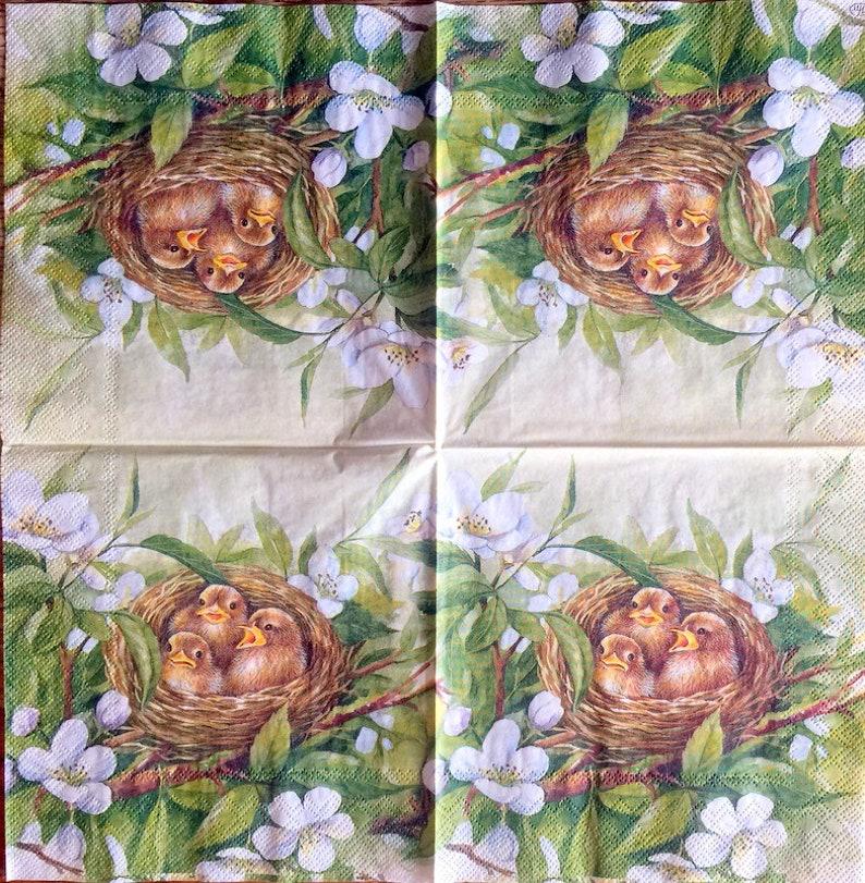 13 inches Decor #523 Decoupage Napkins 2 Single  Paper Napkins for Decoupage Paper-Craft and Collage 33 cm
