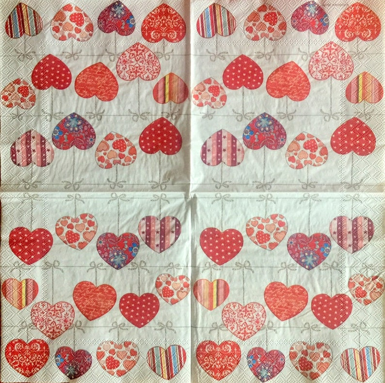 Decoupage Napkins 2 Single  Paper Napkins Decor #539 for Decoupage Paper-Craft and Collage 13 inches 33 cm