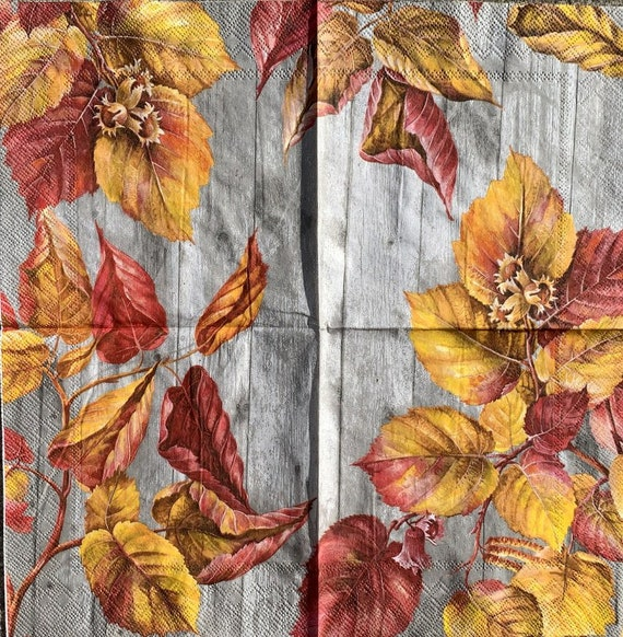 for Decoupage 13 inches LA PLAME gray Decor #100-3 Decoupage Napkins 2 Single  Paper Napkins Paper-Craft and Collage 33 cm