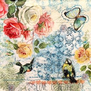 Paper print scrapbooking  Retro love history paper Art  Decoupage Vintage designer Collage cardboard Craft home decor napkins 7X11V79