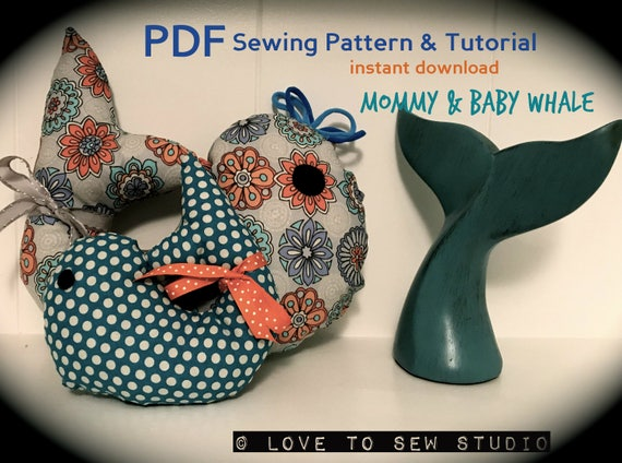 Mommy and Baby Stuffed Animal Whale Sewing Pattern & Tutorial   Etsy