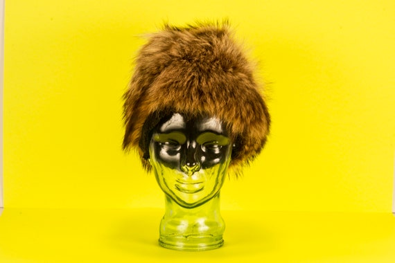 Vtg 60's Glamourous MOD Fur Hat Vintage - image 2