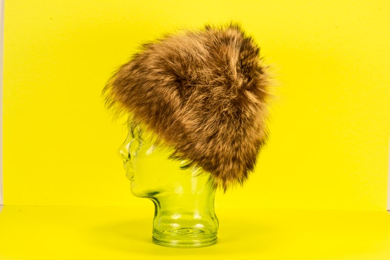 Vtg 60's Glamourous MOD Fur Hat Vintage - image 5