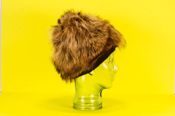 Vtg 60's Glamourous MOD Fur Hat Vintage - image 3