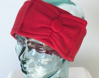 Bow Ear-warmer - Make to order - Many colors to choose from