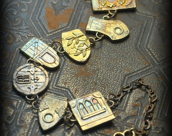 New- Detailed Fairy Door Link Bracelet by Christi Anderson Fairy House Jewelry
