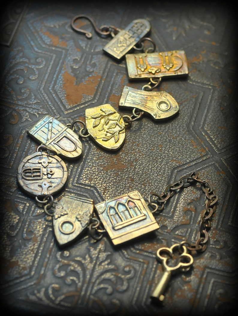 Detailed Fairy Door Link Bracelet by Christi Anderson Fairy image 0