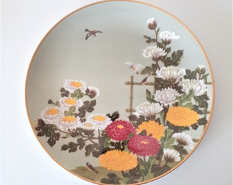Spring Flowers Floral Plate 1970s Made In Japan Franklin Mint