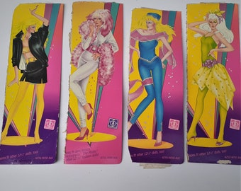 Vintage Jem and Misfits Images Cut-Out from from Original Fashions 1980s