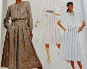 Uncut Women Sewing Pattern, Misses Dress and Belt, 1980s, McCalls 3409, Miss Size 10