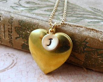 Small Gold Heart Photo Locket Necklace