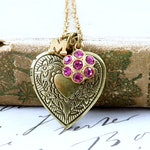 Personalized Locket Necklace, Heart Locket Necklace, Heart Pendant, Initial Necklace, Bridesmaid Locket Gift