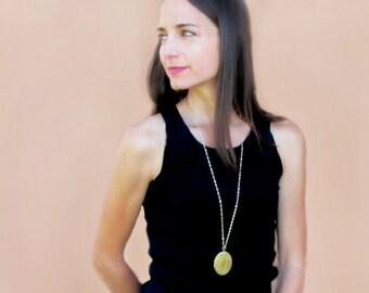 Large Gold Locket Necklace, Photo Locket Necklace, Vintage Locket, Memory Gift for Women, Wedding Day Gift