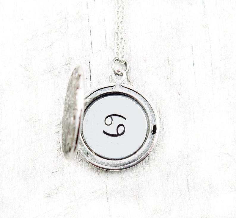 Horoscope Locket Zodiac Necklace Gemini Aries Leo Taurus image 0