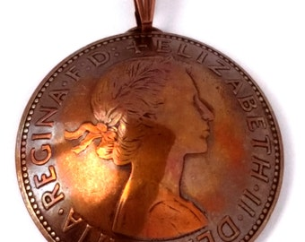 made of original coins from Germany birth year wedding present Berlin Germany 1923 duo coin necklace