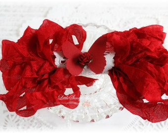 Seam Binding Crinkle Ribbon~Blood Red~5 Yards, Scrapbooking, Cardmaking, Tag Art, Sewing, Gift Wrap