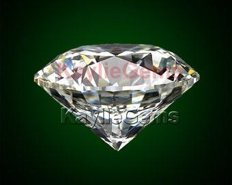 10mm Round AAAAA 5 Star Rated Cubic Zirconia CZ Diamond Brilliant Cut - Diamond Clear - 2pcs