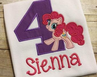 Pony Shirt, Pinkie Birthday Shirt, My Little Pony, Pinkie Pie Birthday, Pony Birthday Shirt, Pony Girl Birthday Shirt, Pinkie Party Shirt
