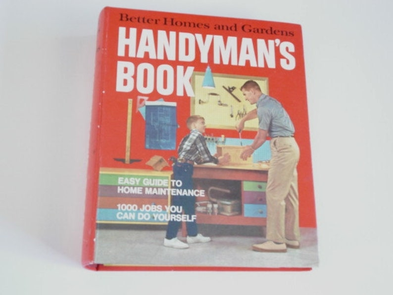 Handyman Book, Home Repair book,1970s Repair Book Fix it Guide, How to  Book, Home Maintaince, Do it yourself, Tools, Plumbing Tips