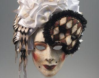 Madame de Pompadour Mask - AVAILABLE/Ready-to-Ship