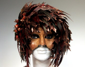 Autumn Leaves Mask - AVAILABLE/Ready-to-Ship