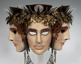 Hekate Triple Mask - AVAILABLE, Ready to Ship