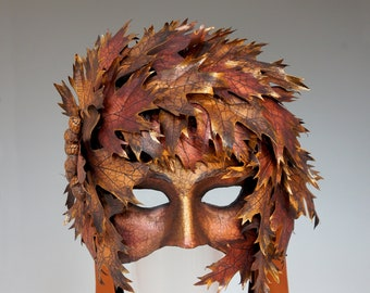 Autumn Dryad Mask - AVAILABLE/Ready-to-Ship