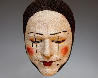 Pierrot Mask - Available/Ready to Ship