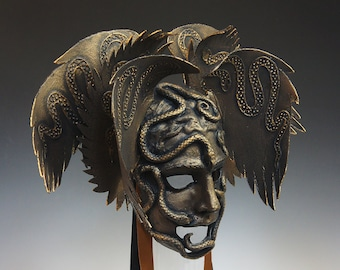 Bronze Snake Mask - AVAILABLE