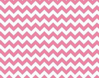 1/2 yard - Small Chevron in Hot pink,  Riley Blake fabric.