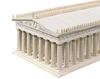 THE PARTHENON Architecture Paper Model Kit Ancient Greek Temple Acropolis Athens Greece School Supplies