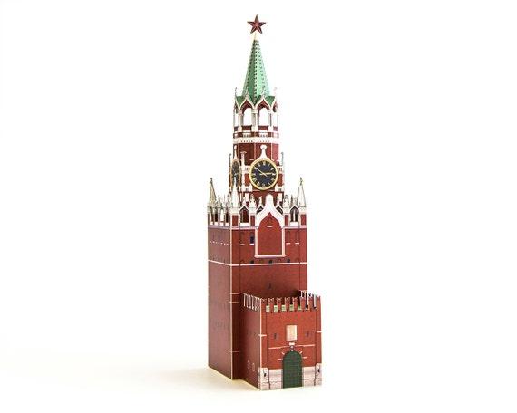 3D cardboard Model Puzzle world famous building assemble spasskaya tower、bridge