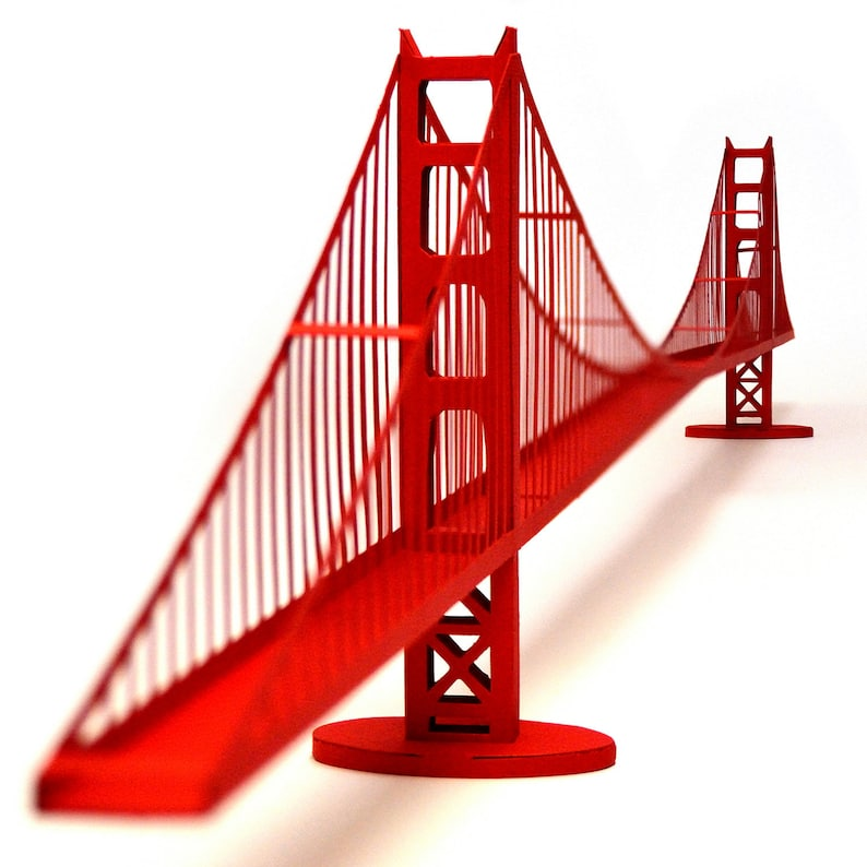 GOLDEN GATE BRIDGE Architecture Paper Model Kit San Francisco image 0