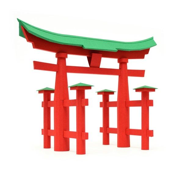 torii tor japanische traditionelle etsy. Black Bedroom Furniture Sets. Home Design Ideas