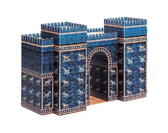 ISHTAR GATE Architecture Paper Model Kit Ancient Babylon School Project Paper Toys