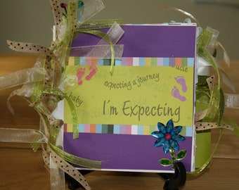 Pregnancy journal album scrapbook -  I'm expecting - new baby