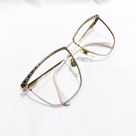 Vintage 1980's Gold and White Mondi Frame Eyeglass