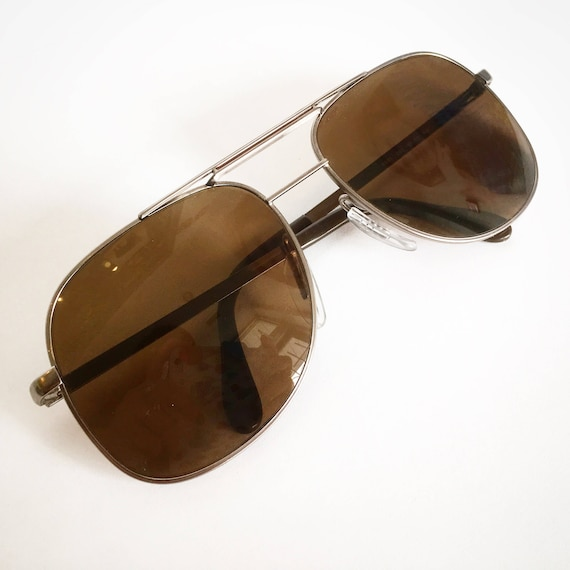 Vintage 1980's Zeiss Aviator General Sunglasses wi
