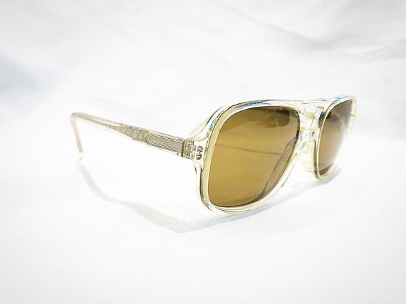 Vintage 1980's Clear Navigators Aviators Acetate P