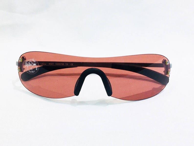 02e80978b Vintage 1990's Kipling Silver Rimless Shield Sunglasses | Etsy